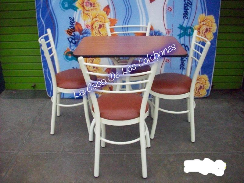 Juego de comedor con 4 sillas articulo nuevo s 345 for Lo ultimo en sillas de comedor