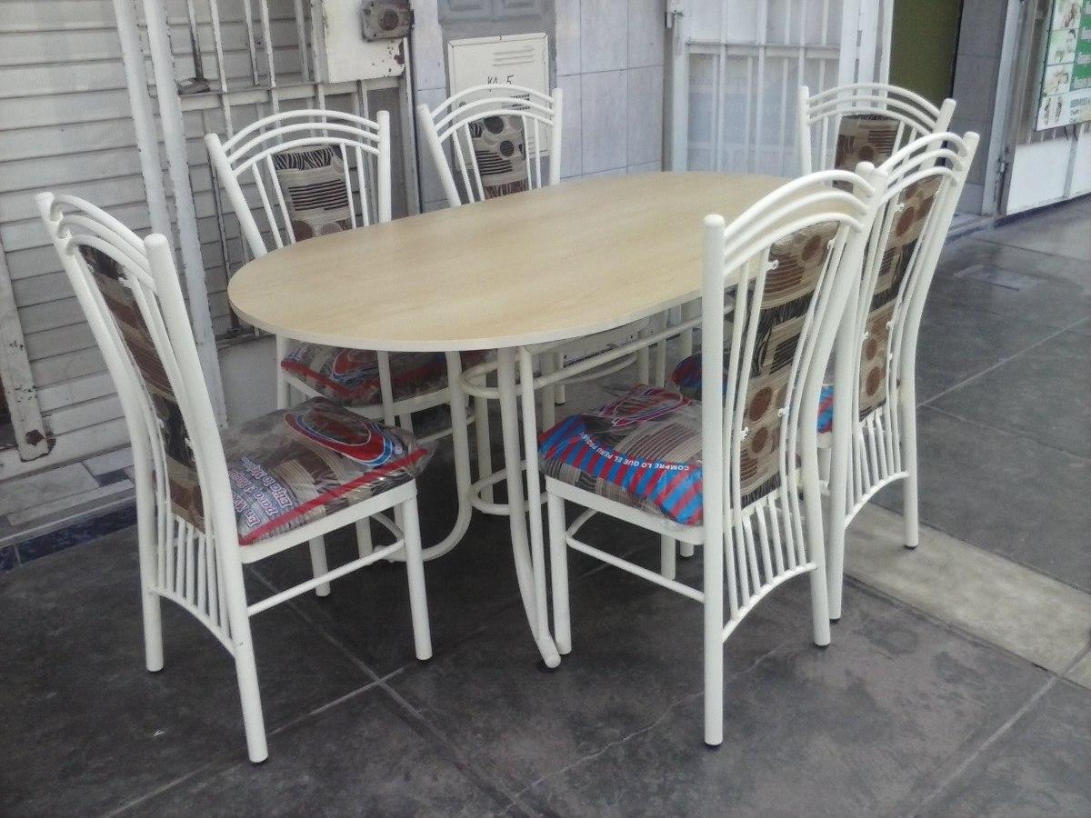 juego de comedor con 6 sillas articulo nuevo s 555
