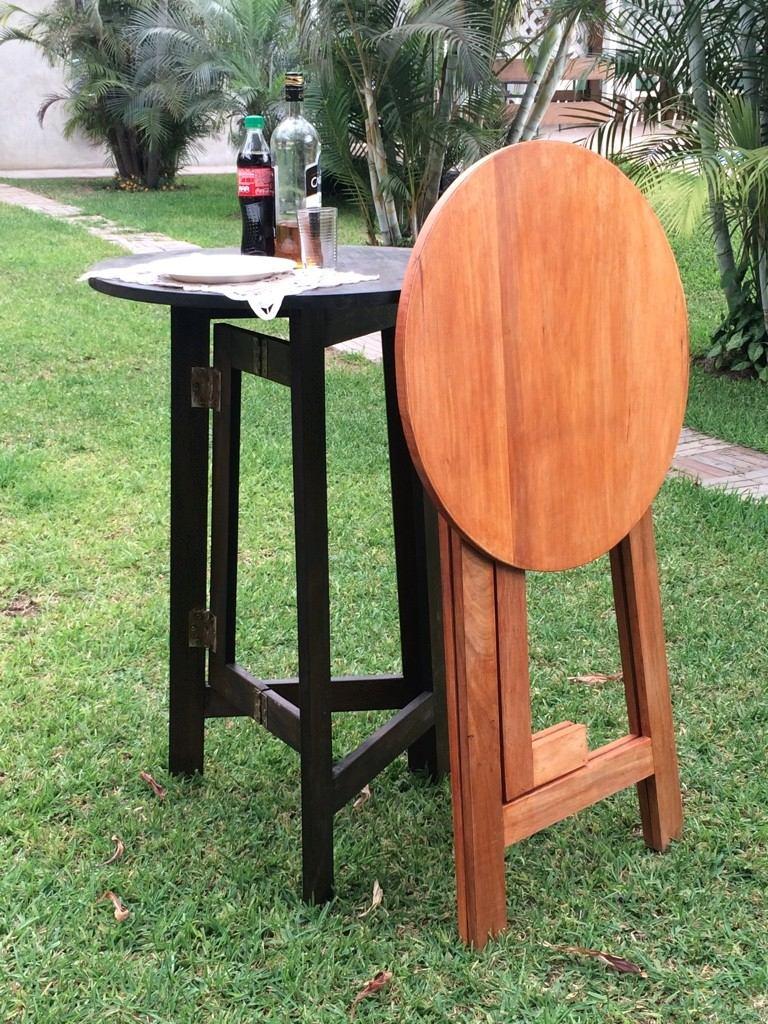 Mesa plegable madera alta playa jardin casa parrilla s for Mesa plegable de madera